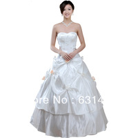 Formal resses 2013 Suzhou Wedding Dress Princess Tube Top White Zipper Wedding Supplier  Drop Shipping