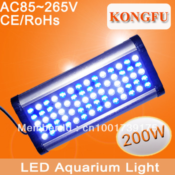 Free Shipping Phantom 200w dimmable Led Grow light,timmed system inside, LCD display,AC85-265V