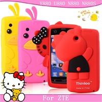 For zte v880 mobile phone case for zte u880 n880 protective case shell for zte n880s phone case silica gel set