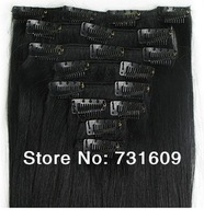 factory price tangle free high quality 100% human hair clip in hair extensions brazilian virgin hair straight 18in 20clips