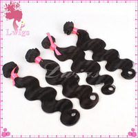 High quality Free Shipping 100% virgin Brazilian hair body wave hair extensions// No tangle, no shedding virgin weft hair