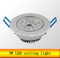 16pcs 3W Warm White High Power LED Ceiling Light  220V 110V Free shipping
