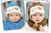 2013 winter thicked warm  Scarf & Hat Sets for children winter scarves hats for boys and girls