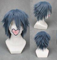 "16"" layered Gray Noctis Lucis Caelum of Final Fantasy Versus XIII Wig"