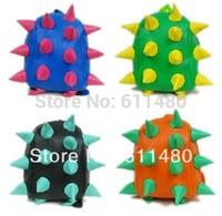 baby school  bag  Children  cortex hedgehog shape school backpacks kids pu leather  backpack