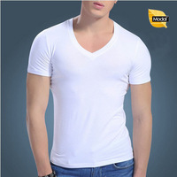 Quality Comfortable Breathable Men Undershirts Modal V-neck Slim Tight Short Sleeve Underwear For Male 3302 Free shipping