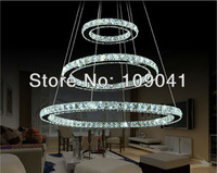 Unique modern pendant  lamp crystal led lighting shipping D800+600+400mm