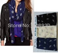2013 Fashion Owl scarf /shawl for women animal printing scarves soft voile scarf Hot sale Free shipping
