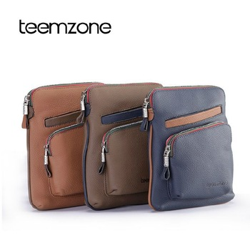 2013 New arrival  fashion trend genuine leather male bag man shoulder bag men messenger bag contract color