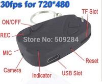 Mini Hidden Car Key Digital Camera HD 720P Keychain Portable DV Car DVR DC Camcorders Video Recorder Support TF Card