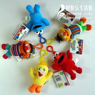 Free shipping Sesame Street plush toys pendant / bag pendant / mobile phone accessories 5 pieces/lot(China (Mainland))