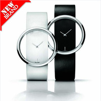Free Shipping Retail Fashion Men and women's Leather Hollow  Transparent  Fashion Gift  Wrist Watche Classic   W35344H01