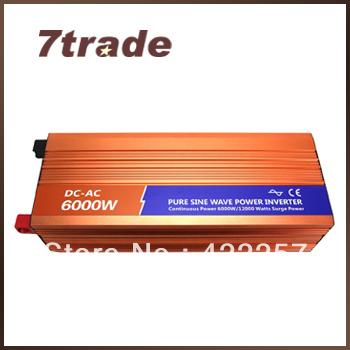 Free Shipping Panel Mounted Inverter 6000W 48V 240V Off Grid Solar/Wind System(China (Mainland))