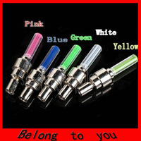 10pcs/lot free shipping Bike Bicycle Cycling Car Tyre Wheel Neon Valve Firefly Spoke LED Light Lamp