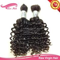 queen hair products bulk hair for braiding Brazilian Curly Virgin Hair expression for braiding Free Shipping Braiding Human Hair