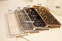 Luxury Crystal Diamond Bling Back Case For iPhone 5 5S 5G  Free Shipping +free touch pen or screen sticker