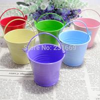 10 pcs  mini tin decoration  metal pail bucket wedding favours pail  candy  bucket