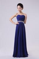 Crystal Formal Long Dress Chiffon Bridesmaid Dress Party Birthday Wedding Prom Gown Drop Shipping, PD0004