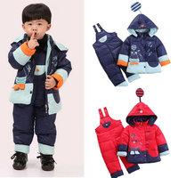 2014 New winter baby toddler children down coat set boys girls clothing set kids down jacket suit Free shipping KS019