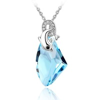 Niceter  Make With Swarovski Elements Crystal Jewelry Pendant Necklaces Fashion 2013 New Design wholesale retail Free Shipping