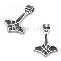 Topearl Jewelry 3pcs Celtic Stainless Steel Myth Thors Hammer Mjolnir Pendant MEP14