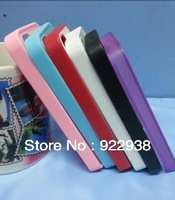 Free shipping TPU rubber laterals sublimation case for 5G for iphone 5 PC case with aluminium metal sheet with glue 50pcs/lot