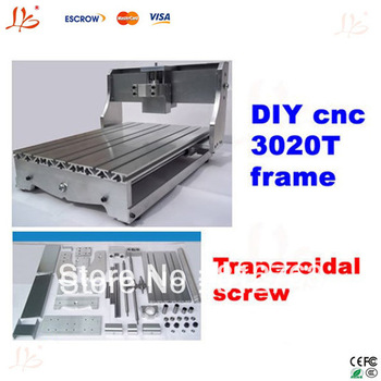 DIY cnc 3020T frame, desktop cnc engraving machine router lathe bed with Trapezoidal screw