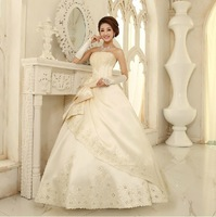 Bandage Dress 2013 Wedding Tube Top Wedding Dress Formal Dress Sweet Princess Puff White Wedding Dresses