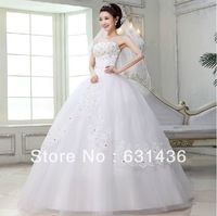 Diamond Decoration Bandage Dress 2013 Sweet Princess Wedding Dresses Tube Top Hydrotropic Slim Waist Wedding Dress