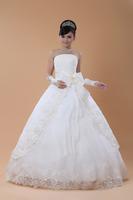2014 Hot Bride Tube Top Custom Made Bow Bubble Yarn Princess Bandage Wedding Dresses Romantic Fashion Bridal Gown Drop Shipping