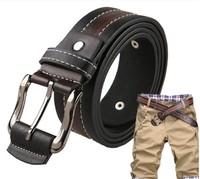 New 2014 Fashion Vintage  Men's Buckle Rivet Belt Male British Fashion Rectangular Shape Belt Buckle Leather Strap