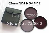 62MM 62 mm Neutral Density ND2 ND4 ND8 lens Filter Kit Set ND 2 4 8 + Leather Bag For Canon Nikon Sony All DSLR SLR Camera