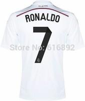 Top thailand qualiy LFP Real madrid 14 15 Home Jersey 7 RONALDO 2015 Real Madrid soccer shirt  2014  free shipping