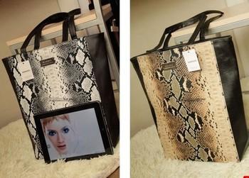 Free Shipping MNG Snake Pattern Women Casual Tote Big Shoulder Mango  Fashion Lady PU Leather Handbag