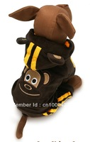 Free Shipping 2013 Wholesale Autumn&Winter Cotton Coffee Dog Clothes Pet Product