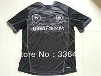 New arrival 13/14 fans version RIVER PLATE 75 th years black best quality soccer jersey, RIVER PLATE soccer jerseys, size:s-xl