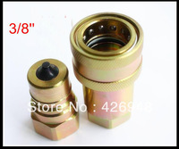 "ISO-7241-A 3/8"" BSP Hydraulic quick coupler set ,4000PSI CLOSE TYPE QUICK COUPLING,Compatible with PARKER 6600 AEROWUIP 5600"