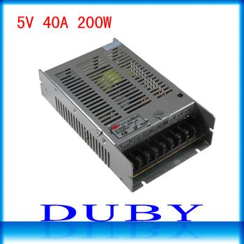 5V 40A 200W LED display switching power supply LED power supply 5V 40A 200W transformer 95-265V free shipping