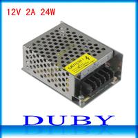 12V 2A 24W Switching Power Supply Driver For LED Strip light Display AC100V-240V Input,12V Output Free Shipping