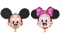 Free shipping 10pcs/lot minnie micky foil balloon minnie party supplies