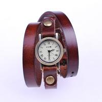 Retro vintage quartz watches 2014 new winter casual dress wristwatch for boys girls genuine long leather strap watch JC1036