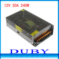 12V 20A 240W Switching Power Supply Driver For LED Strip light Display AC100V-240V Input,12V Output Free Shipping