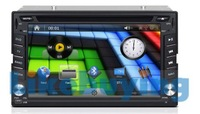 Universal 2 Din 6.2 inch Car DVD GPS Radio stereo navigation, Bluetooth,IPOD Support,3G/ WIFI optional, Free 8G SD Card with map