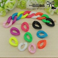 Free shipping 200pcs Detachable High quality Mixed colors Plastic Chain Links 24mm Oblate ellipse