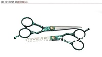 One Set Cutting Scissors And Thinning Scissors 6.0 INCH Hairdressing Scissors Cut Hair Use For Salon Shop And DIY Free Shipping