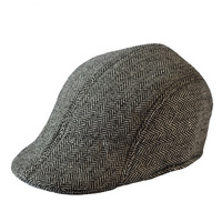 2014 Hats For Men  striped  general elderly Wedding cap Visors hat Winter Cap 2 sizes Grey Brown Unisex Hat