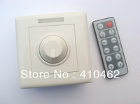 Free shipping  Wall type12-key Infrared Dimmer 12V-24V DC output constant voltage LED remote dimmer PWM output 20/lot sales