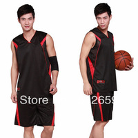 Free Shipping Plus size men's high quality jersey basketball shorts suit