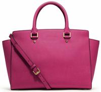 Free Shipping Fashion women's handbags genuine leather cowhide pink handbags female shoulder bag original brand handbags good