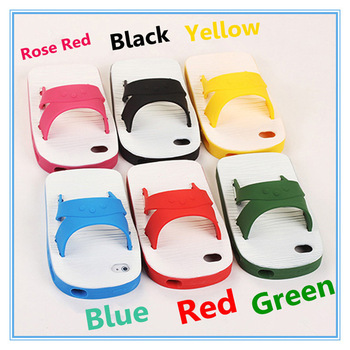Free shipping  creative silicone Samsung i9300 s3 i9500 s4 i7100 note2 of the  slippers new cell phone case